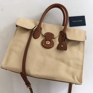 Ralph Lauren Coated Canvas Ricky Tote